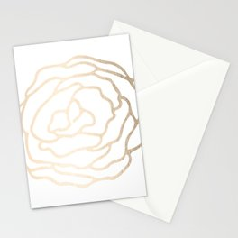 Flower in White Gold Sands Stationery Cards