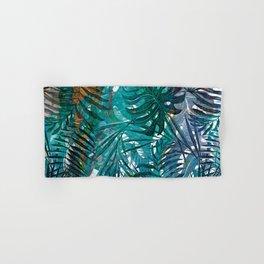 Aloha - Tropical Palm Leaves and Monstera Leaf Garden Hand & Bath Towel