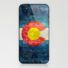 Colorado State Flag in Vintage Grunge iPhone & iPod Skin