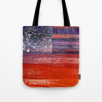 flag Tote Bags featuring Flag by DAVID BIRKBECK
