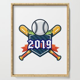 Happy New Year 2019 Baseball Funny Gift Serving Tray