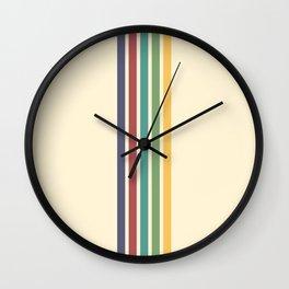 Minimal Abstract Retro Stripes 70s Style - Chacha Wall Clock