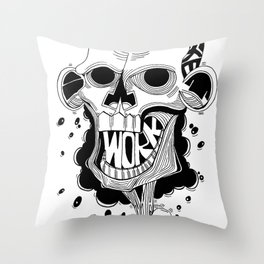 rattle on a stick Throw Pillow