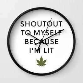 I am Lit Wall Clock