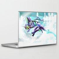 evangelion Laptop & iPad Skins featuring Evangelion Unit 01 - Shinji Ikari's Ride. The Digital Painting. by Barrett Biggers