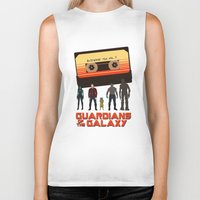 guardians of the galaxy Biker Tanks featuring GUARDIANS OF THE GALAXY by Kaitlin Smith