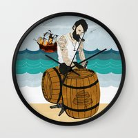 moby Wall Clocks featuring Captain Moby by Napa