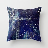 starry night Throw Pillows featuring Starry Night by OrangeOlive