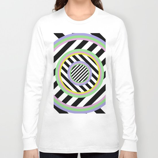 Circles, stripes and pastel colours Long Sleeve T-shirt