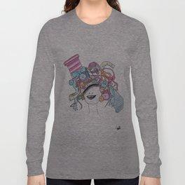 365 cabelos - sewing Long Sleeve T-shirt