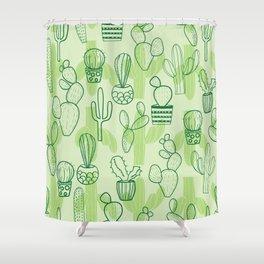 cactus lovely wallart Shower Curtain