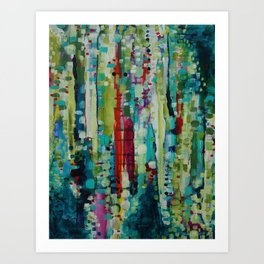Visit to Chihuly Art Print
