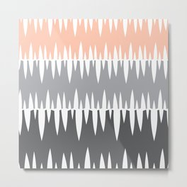 Accordian | peach+grey+slate Metal Print