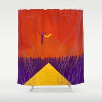 magneto Shower Curtains featuring Magneto Was Right  by modHero