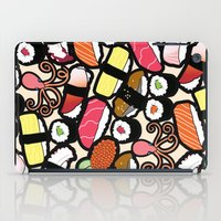 sushi iPad Cases featuring Sushi! by thickblackoutline
