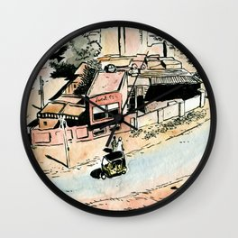 La rue - The street Wall Clock