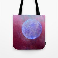 middle earth Tote Bags featuring middle by Claudia Drossert