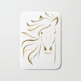 Golden Horse Drawing Bath Mat