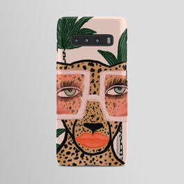 Tropical Glam Cat Android Case
