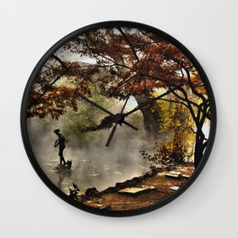 Steamy days Wall Clock