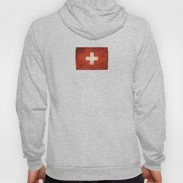 Old and Worn Distressed Vintage Flag of Switzerland Hoody