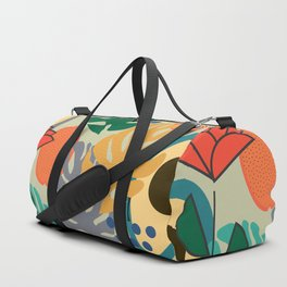 Monstera, fruits and flowers Duffle Bag