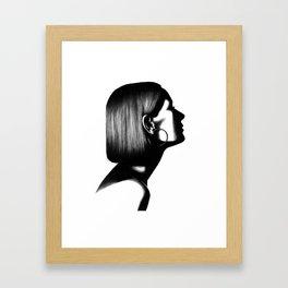 Profile in Pen Framed Art Print