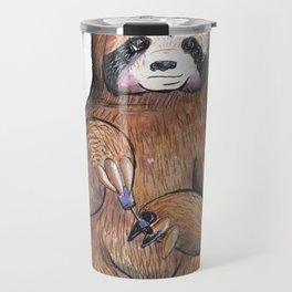 sloth painting nails Travel Mug