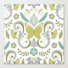 Butterfly Damask - Spring Mod Canvas Print