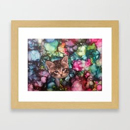 Cute Kitten Framed Art Print