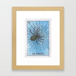 La Arana Mexican Loteria Bino Card Framed Art Print