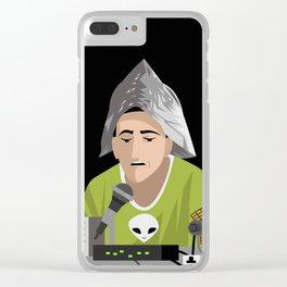 alien conspiracy man Clear iPhone Case
