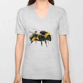 Bumblebee, bee art, bee design, minimalist bee honey Unisex V-Neck