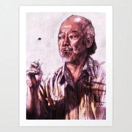 Mr. Miyagi from Karate Kid Art Print