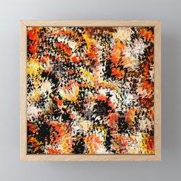 Smeared fiery abstract Framed Mini Art Print