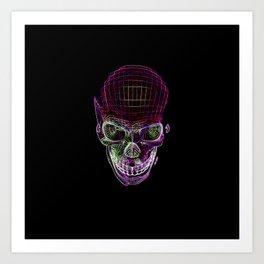 NEON SKULL/2 Art Print