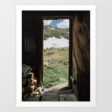 Colorado Mountain Cabin Art Print