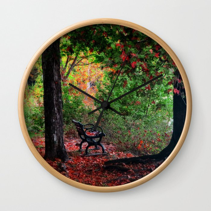 Fall In Henes Park Wall Clock