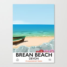 Brean Beach devon Canvas Print