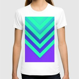 Cyan & Violet Chevron T-shirt