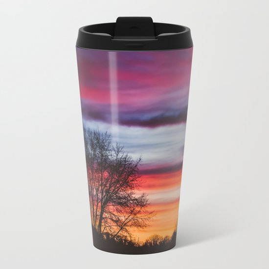 Leave Me Here Alone Metal Travel Mug