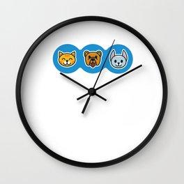 Pet Shop Cat Dog Wall Clock