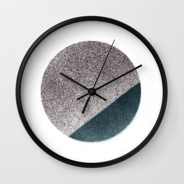 Spraypainted Circle 2 Wall Clock