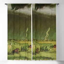 The Line Storm - Thunder and Lightning on the American Plains by John Steuart Curry Blackout Curtain