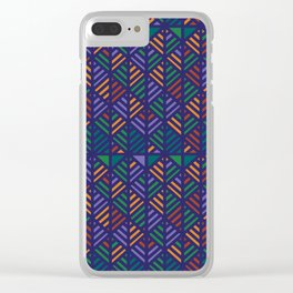 Crosshatch Color Clear iPhone Case