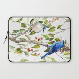 Mountain Bluebirds and Berries Laptop Sleeve