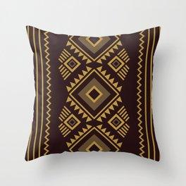 Brown geometric pattern Throw Pillow
