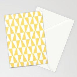 Mid Century Modern Geometric 731 Yellow Stationery Cards