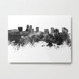 Newark skyline in black watercolor Metal Print