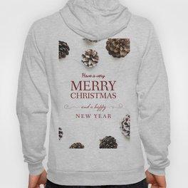 Merry Christmas Modern Holiday Greeting White Hoody